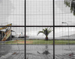 May 28th 7pm, Hydrophones onlow gate on oil factory, Harbor and thunderstorm inside gate, photo by Alexandre Guirkinger