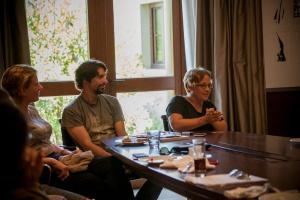 Fellows Clara Roquet, Gonçalo Waddington and Laura Bispuri_p ©Nikos Pastras